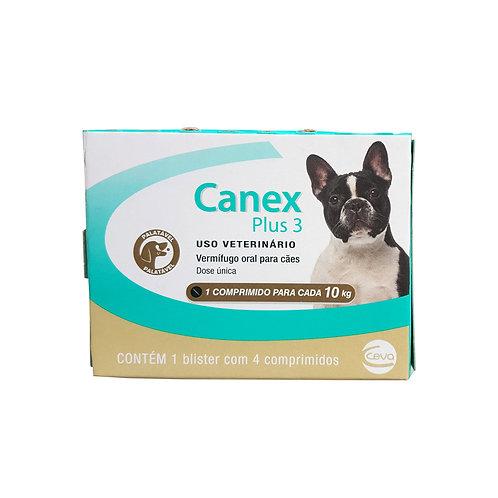Canex Plus 3 Cães 10kg 4 comp