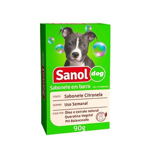 Sabonete para Cães Sanol Dog Citronela Embalagem 90G