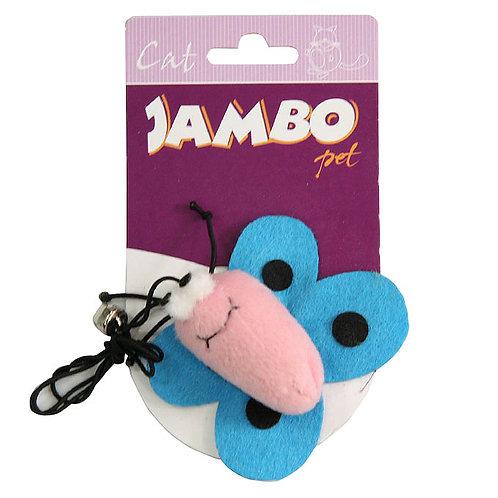 Brinquedo Jambo Borboleta Rosa e Azul