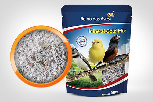 MINERAL GOLD MIX  Marca::  REINO DAS AVES  |   PESO::  500g