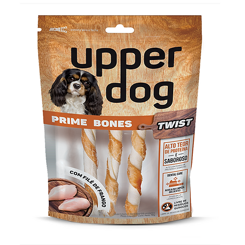 Petisco Natural Osso Palito Prime Bones Twist Upper Dog 3 unidades