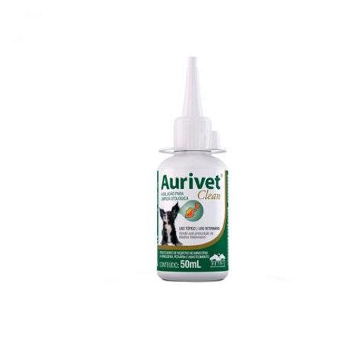 Aurivet Clean 50ml Vetnil Solução Otológica Cães Gatos