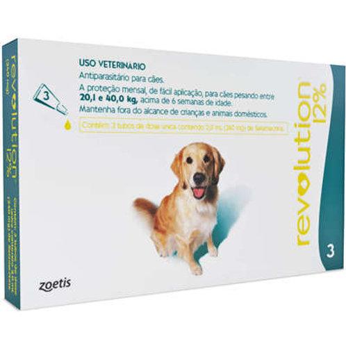 Antiparasitario Zoetis Revolution 12% para Cães de 20 a 40 kg - 240 mg