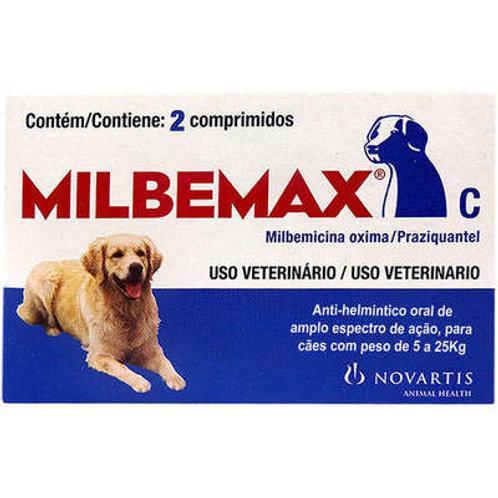 Vermífugo Milbemax C para Cães de 5 a 25 Kg - 2 Comprimidos