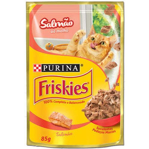 Ração Nestlé Purina Friskies Sachê Salmão ao Molho para Gatos