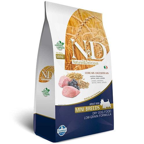 N&D para Cães Adultos Raças Mini Ancestral Grain sabor Cordeiro