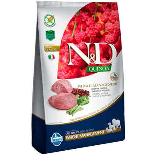 N&D Quinoa Weight Management Cordeiro para Cães Adultos de Todas as Raças
