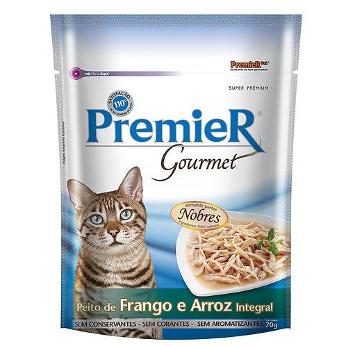 Ração Úmida Premier Gourmet P/ Gatos sabor Peito de Frango e Arroz integral 70g