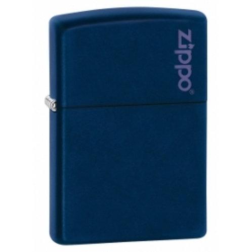 Zippo Logo Navy Blue Matte Lighter