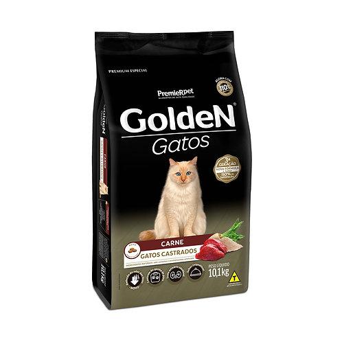 Ração Golden para Gatos Adultos Castrados Sabor Carne