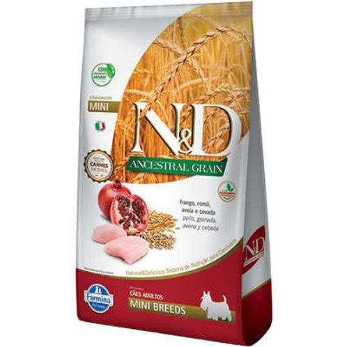 N&D Ancestral Grain Frango Cães Adultos Raças Pequenas