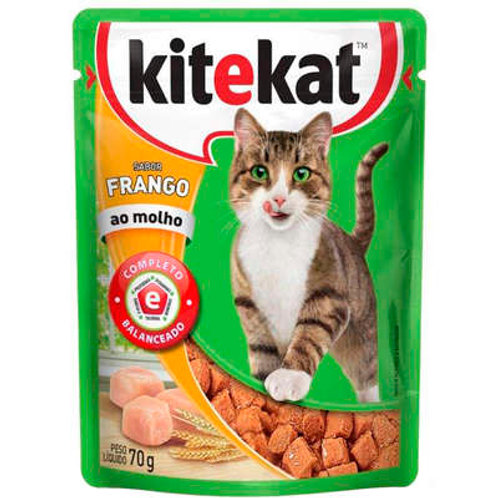 Ração Kitekat Sachê Frango para Gatos Adultos