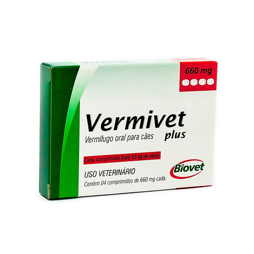 Vermífugo Biovet para Cães Vermivet Plus 660mg