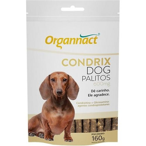 Condrix Dog Palitos 600mg 160g Organnact Suplemento