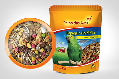 PAPAGAIO GOLD MIX 500G - REINO DAS AVES