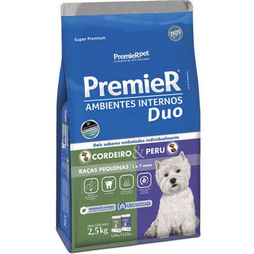 Ração Premier Duo A. I. p/ Cães Adulto0s de Raças Pequenas Sabor Cordeiro e peru