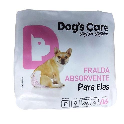 Fralda Higiênica Fêmea 6 unidades Dogs Care