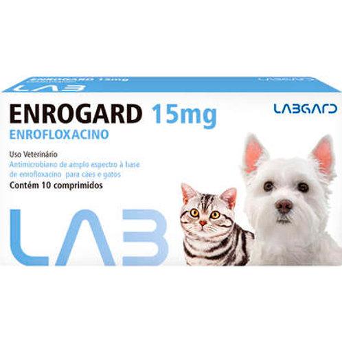 Antimicrobiano Labgard Enrogard 15 mg para Cães e Gatos até 5 Kg