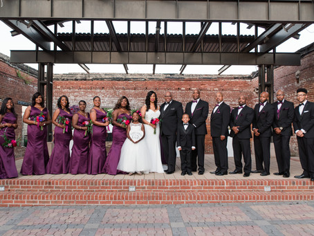 Kenya + Michael's Pop of Color Intimate Wedding in Downtown Historical Douglasville, Georgia