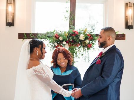 Ashanti + Oscar's Intimate Wedding at Juliette Chapel