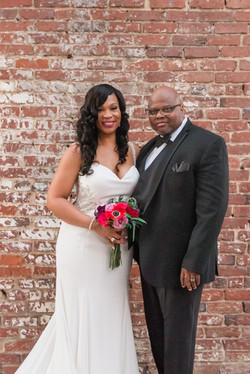 Kenya & Michael's Intimate Wedding