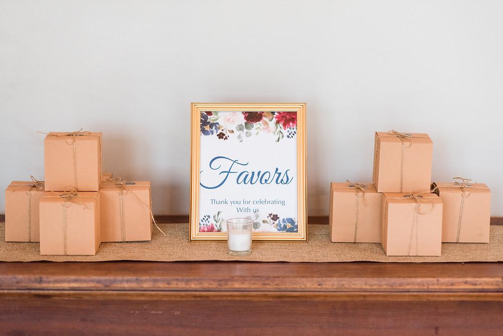 Intimate Wedding Favors