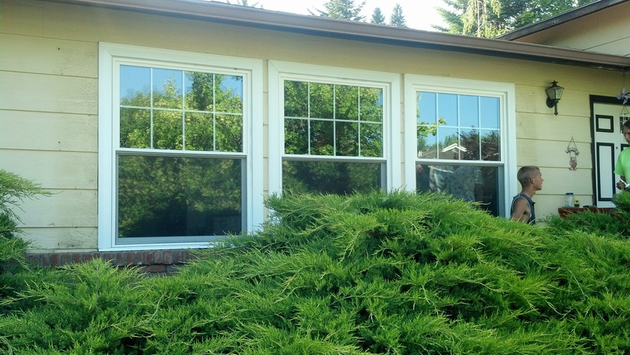 Double Hung Windows with Grill After