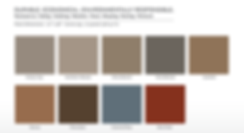 Markin Co Steel Shake Accent Siding colors.