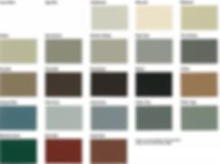 Markin Co Classic Steel Siding colors.