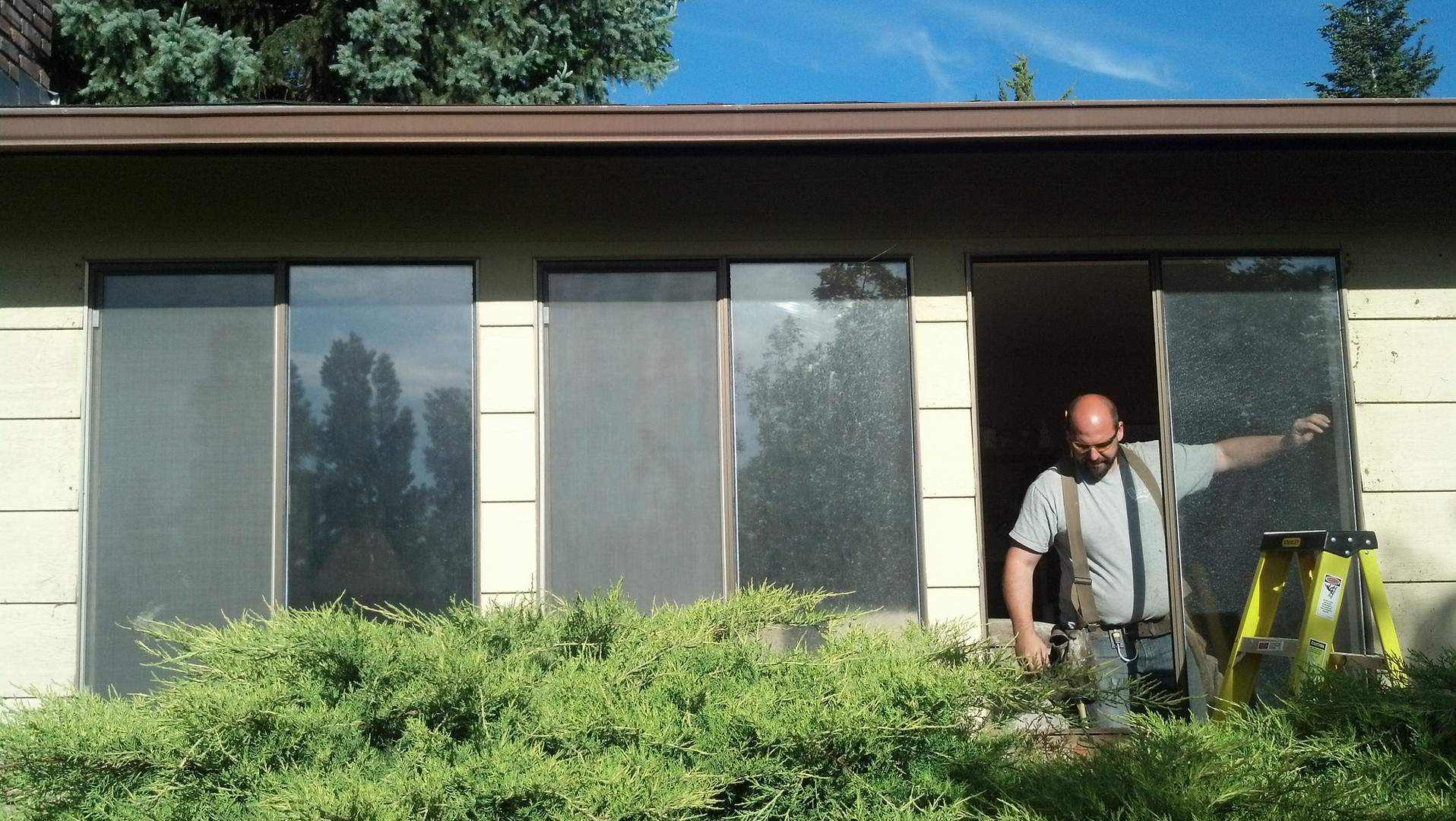 Double Hung Windows with Grill Before