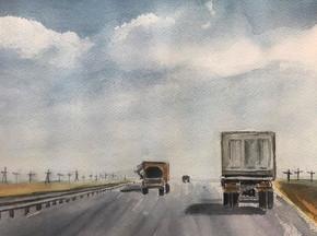 Silk road. 2019. Watercolor. 36 x 35 cm