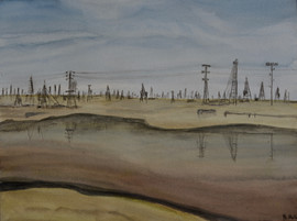 Oil field near Baku, Azerbaidjan II (2019)
