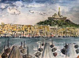 Le vieux port de Marseille. 2019.