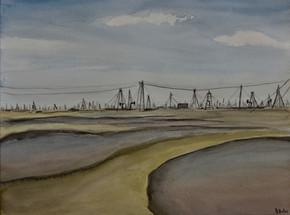 Oil field near Baku, Azerbaidjan I (2019)