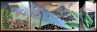 cat mural nick lowry art design christchurch set design art direction
