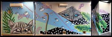 cat mural nick lowry art design christchurch set design art direction