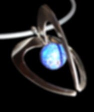 Ibex gold logo pendant