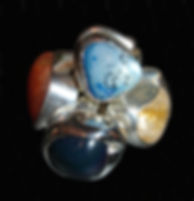Big Rox tumbled gemstone rins by Loubee Rox