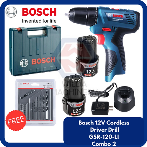 Bosch GSR120-LI Cordless Drill/Driver COMBO 2
