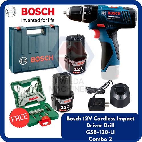 Bosch GSB120-LI Cordless Drill/Driver COMBO 2