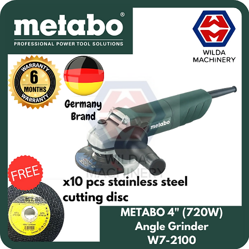 "METABO 720W 4"" Angle Grinder 