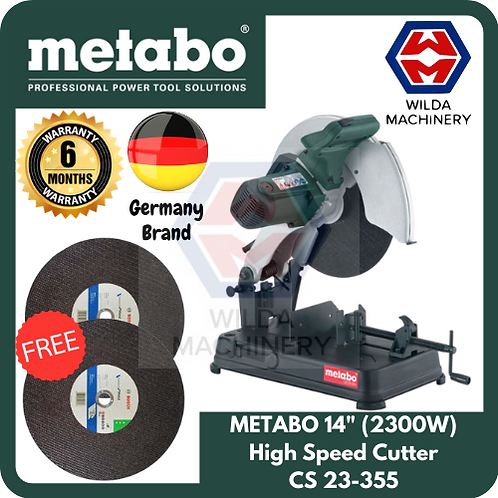 "METABO 2300W 14"" High Speed Cutter 