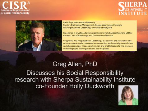 Leading with Hope and Care and Love: An Interview with Greg Allen, PhD