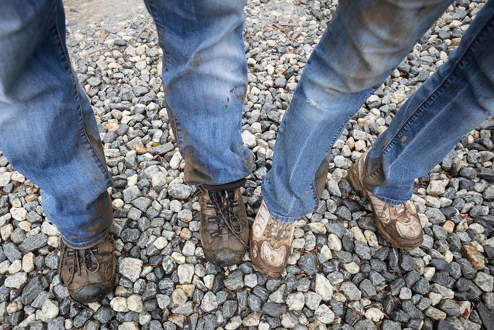 Muddy trailin' it