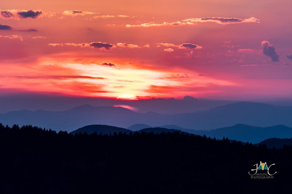Sunset on the Balsam Range