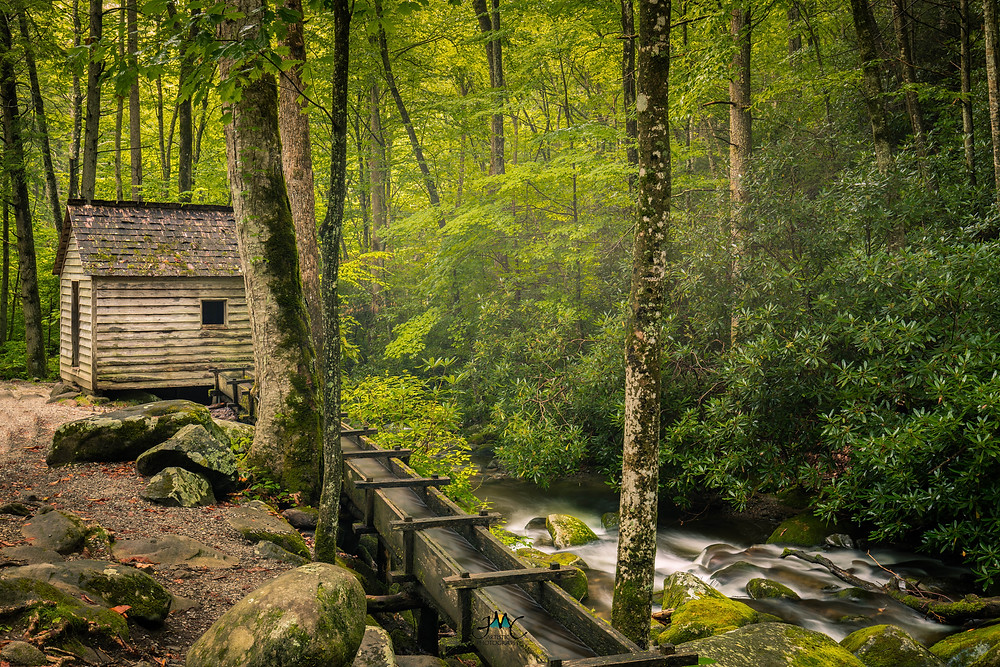 Grist Mill in Roaring Fork, Tennessee