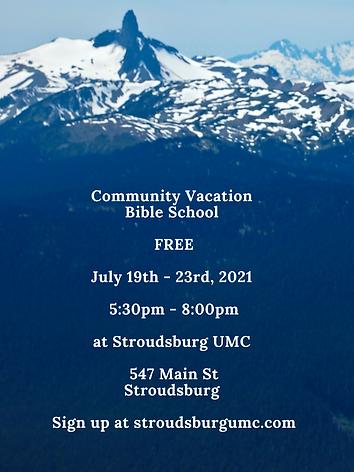 Community Vacation Bible School FREE Jul