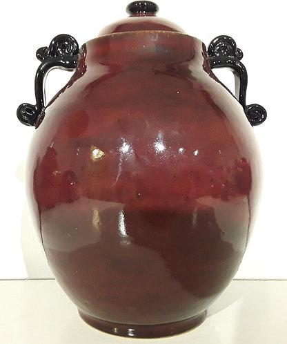 Fancy Red & Black Jar