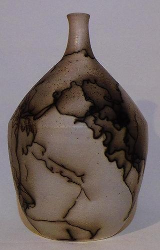 Horsehair Raku Bottle