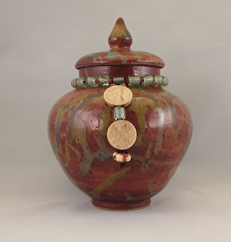 Lidded Jar with Beads